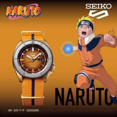SEIKO 精工 5 Sports x 火影忍者 鳴人 聯名限量機械錶(SRPF70K1/4R36-10B0O)-42.5mm