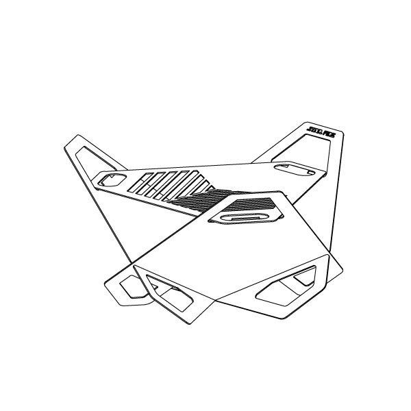 【公司貨】QUBE star fire 9 星火3D組合式火台 焚火台 火盆 居家 露營 登山 【悠遊戶外】