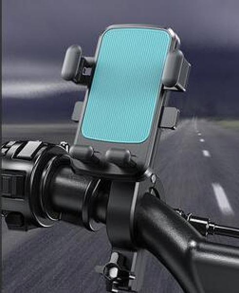 手機支架 電動車手機架導航機支架摩托外賣騎手車載自行車電瓶防震騎行【快速出貨八折優惠】