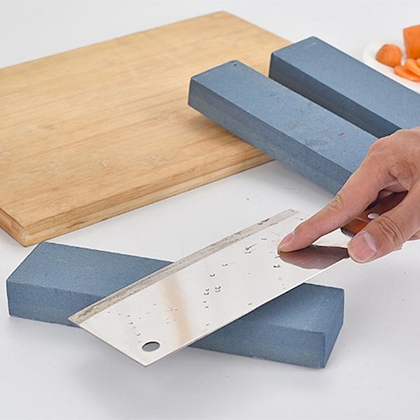 菜刀雙面磨刀石剪刀開刃油石條天然磨石多功能家用方形廚房磨刀器 安雅家居館