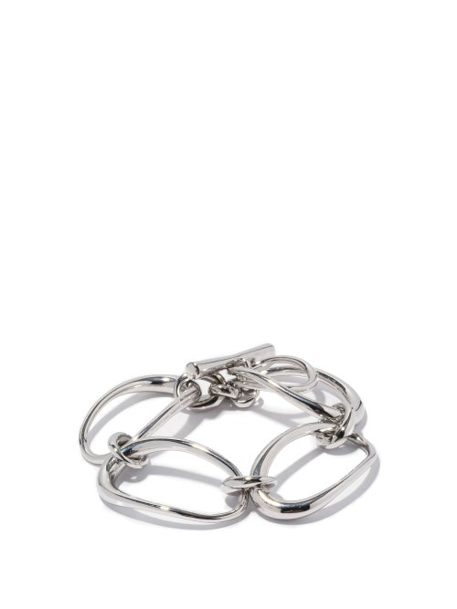Charlotte Chesnais - Turtle Rhodium-plated Sterling-silver Bracelet - Womens - Silver