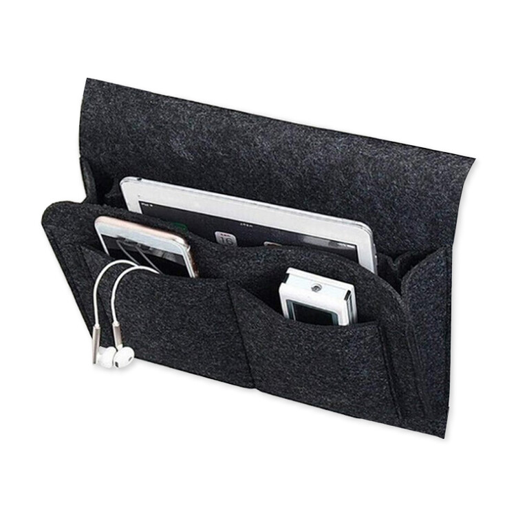 毛氈床邊收納袋 毛氈置物袋 毛氈收納袋 整理袋 儲物袋 床掛袋 沙發掛袋 床頭收納袋