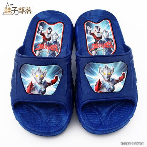 鞋子部落大河 室內拖 戶外拖鞋 超人力霸王 um0284 藍