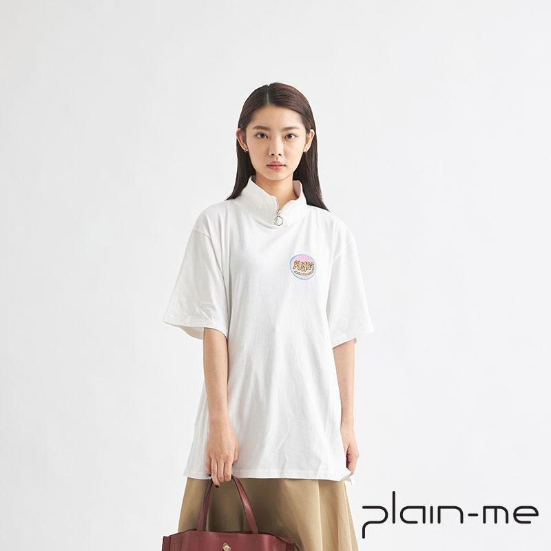 【plain-me】高領拉鍊上衣 PN18AW-065