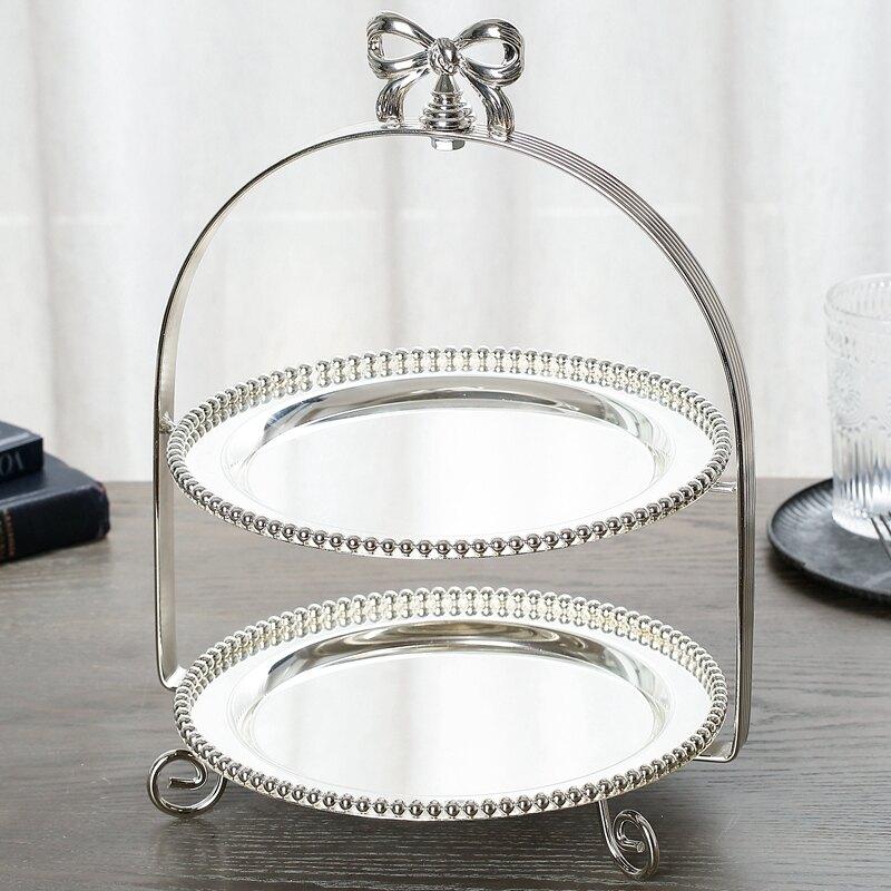 點心架 格嘉睿爾歐式金屬兩層三層蛋糕架點心盤水果盤糕點架婚慶用品擺設【MJ4139】