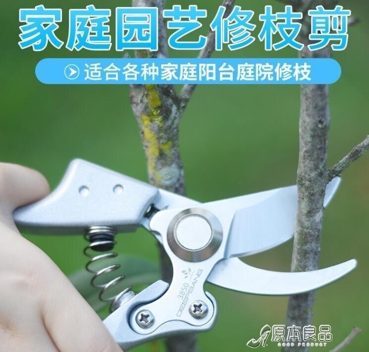 園林工具 進口SK5精鋼園藝剪刀修枝剪工具花木花剪家用花藝修花枝修剪樹枝yh