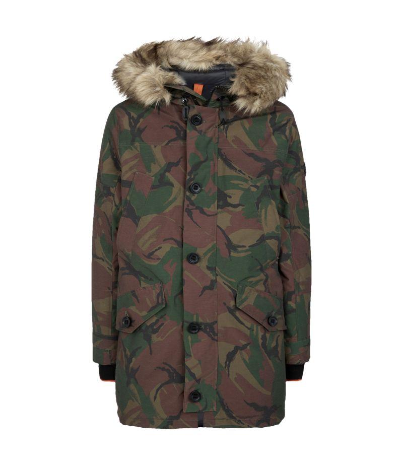 Polo Ralph Lauren Faux Fur Camouflage Coat