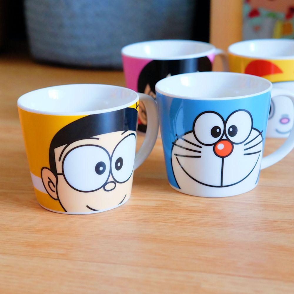 《哆啦A夢》日本商品 角色大臉馬克杯 咖啡杯 大雄 胖虎 DORAEMON 日本製
