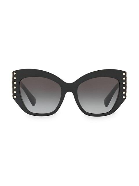Individual 54MM Embellished Cat Eye Sunglasses