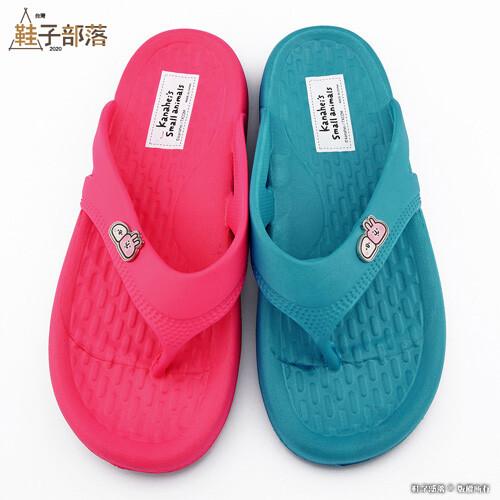 鞋子部落 女款 輕量夾腳拖鞋 卡娜赫拉 ki1493 桃/綠 (共二色)