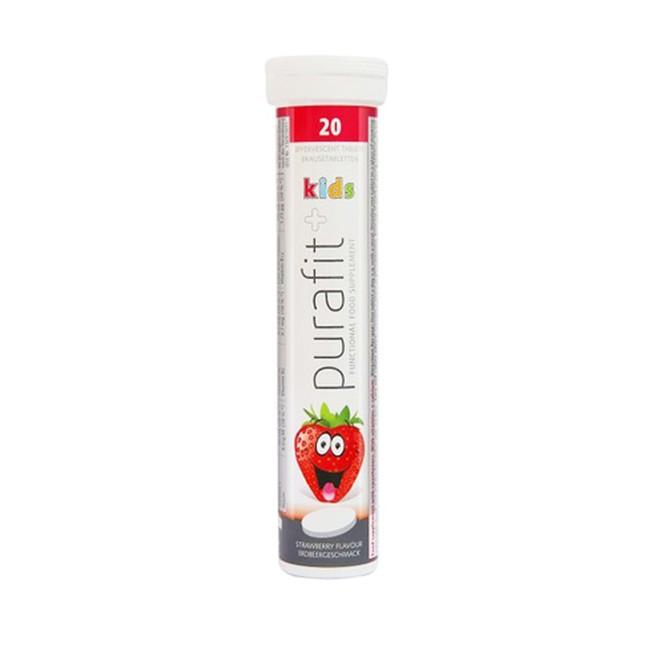 Purafit 鈣+維他命C發泡錠草莓口味20錠入