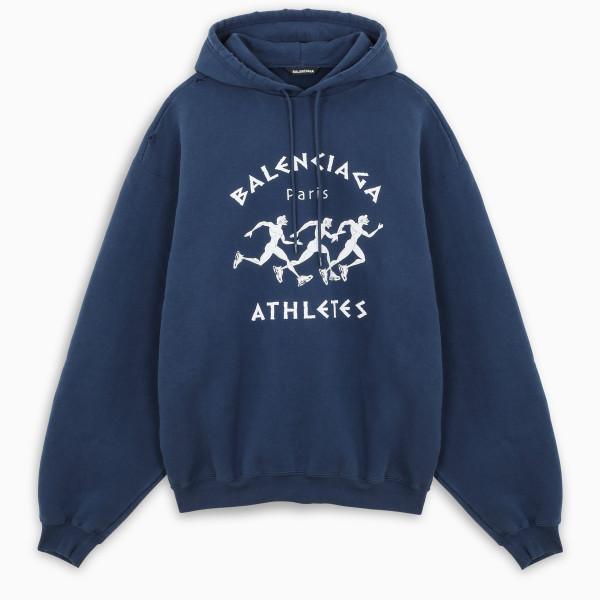 Balenciaga Blue/white Athletes hoodie