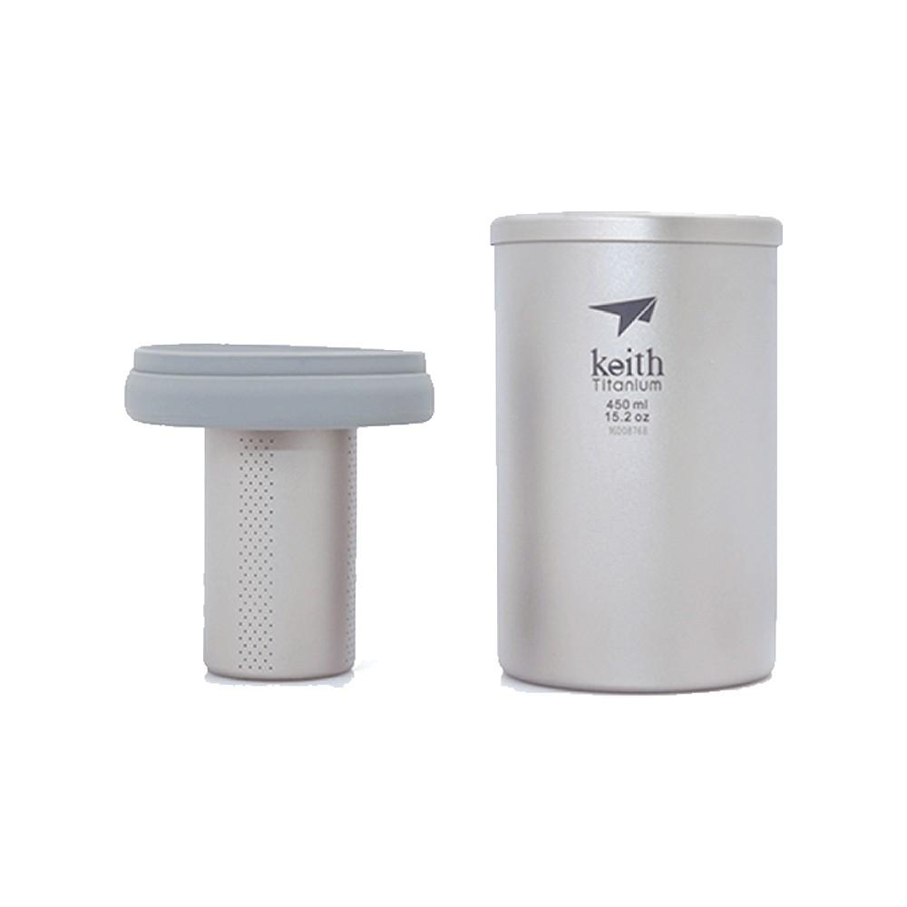 【Keith純鈦】Ti3521泡茶杯(450ml)《WUZ屋子》鈦杯 泡茶器 茶具 沖茶