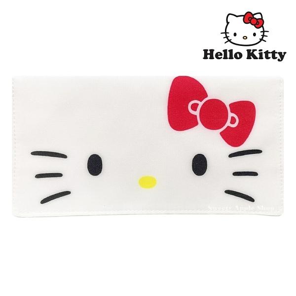 日本限定 三麗鷗 HELLO KITTY 凱蒂貓 大臉版 口罩收納套 / 口罩收納夾 / 口罩套