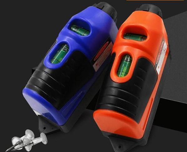 水平儀 激光水平打線器 迷你多功能激光打線儀 紅外線激光地線儀 帶水泡【快速出貨八折下殺】