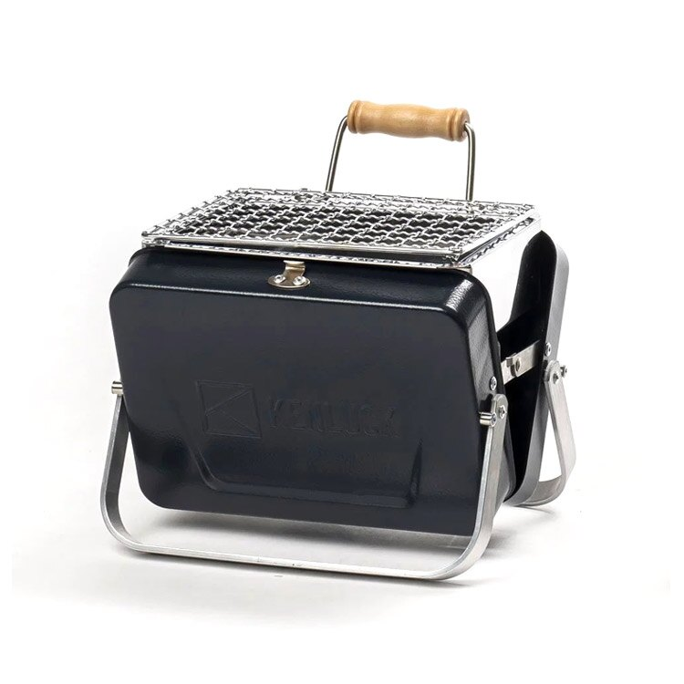 KENLUCK 迷你攜帶型烤肉架Mini Grill 深藍 / 城市綠洲 (烤爐 烤肉爐 BBQ 焚火台 火爐 台灣品牌)
