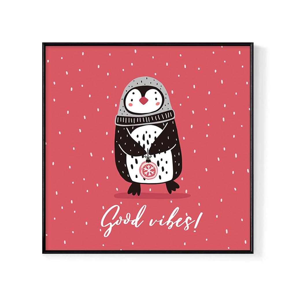 企鵝-Good vibes-冬季/禮物/聖誕/慶祝/掛畫/房間/新居落成/企鵝