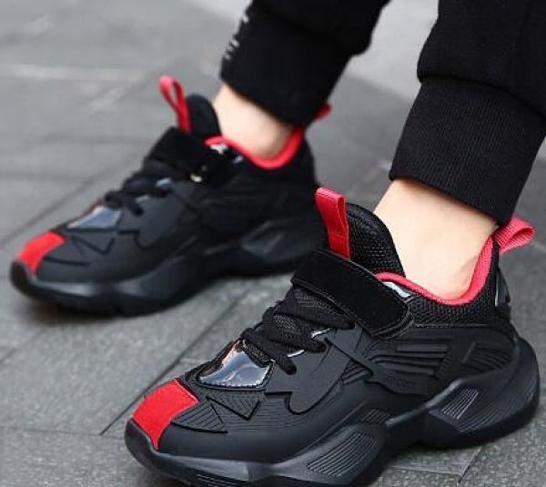 男童運動鞋 男童鞋子2021新款春款皮面運動鞋冬季小孩加絨保暖中大童【快速出貨八折搶購】
