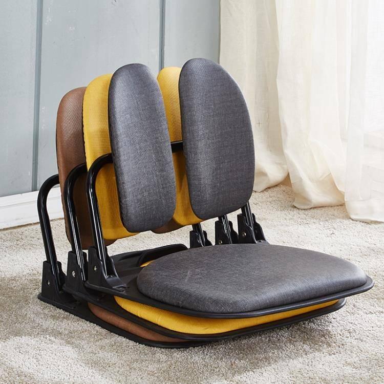 沙發折疊和室椅背靠椅懶人沙發學生宿舍榻榻米椅子飄窗鐵藝床上椅凳子