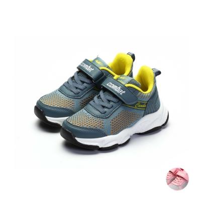 COMBAT艾樂跑童鞋-飛織運動鞋-藍/粉(TD6305)