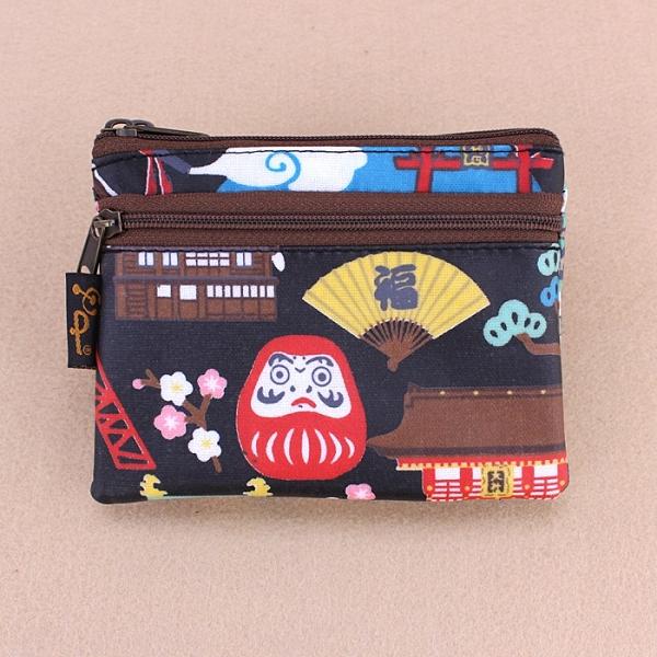 雨朵防水包 M050-399 三拉鍊小零錢包包