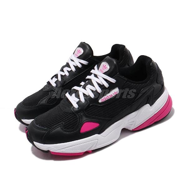 【五折特賣】adidas 休閒鞋 Falcon W 黑 粉紅 白 女鞋 老爹鞋 運動鞋 【ACS】 EE5123