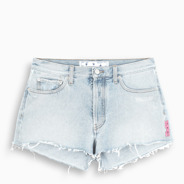 Off-White™ Denim frayed shorts