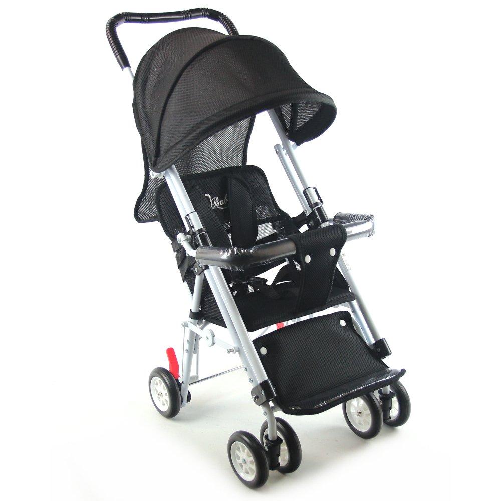 S-Baby 第三代五點式安全帶輕便型推車(可變座椅)-黑