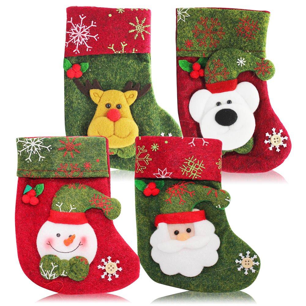 O'Pretty 歐沛媞 玩偶造型聖誕襪-雪花款四入組-耶誕佈置交換禮物