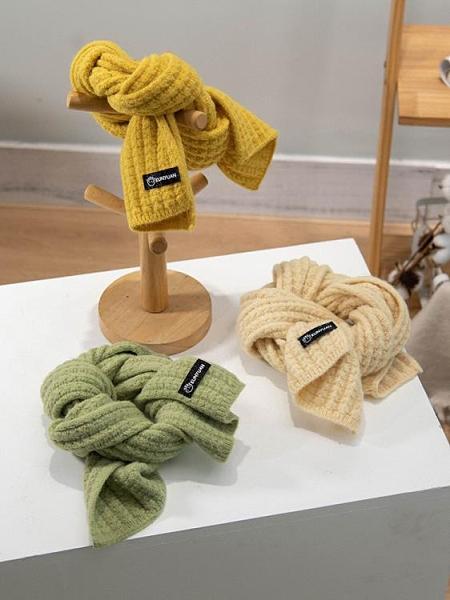 小方巾 寶寶圍巾秋冬季男女童保暖針織百搭圍脖兒童洋氣嬰幼兒方巾韓版潮 歐歐