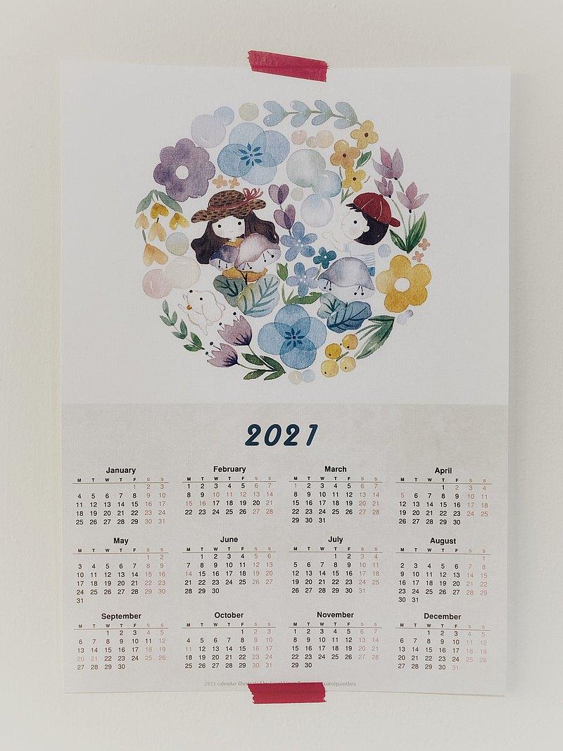 2021 單張年曆小海報 A4尺寸