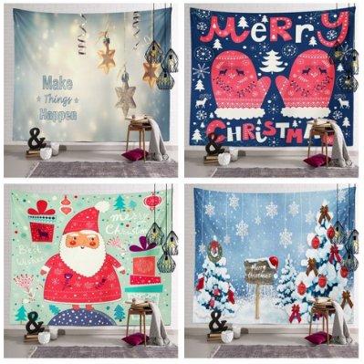 【小阿霏】聖誕節主題掛布 多款不佔空間耶誕節氣氛裝飾背景掛布掛畫 居家溫馨裝飾商場活動賣場幼稚園安親班擺飾品T71
