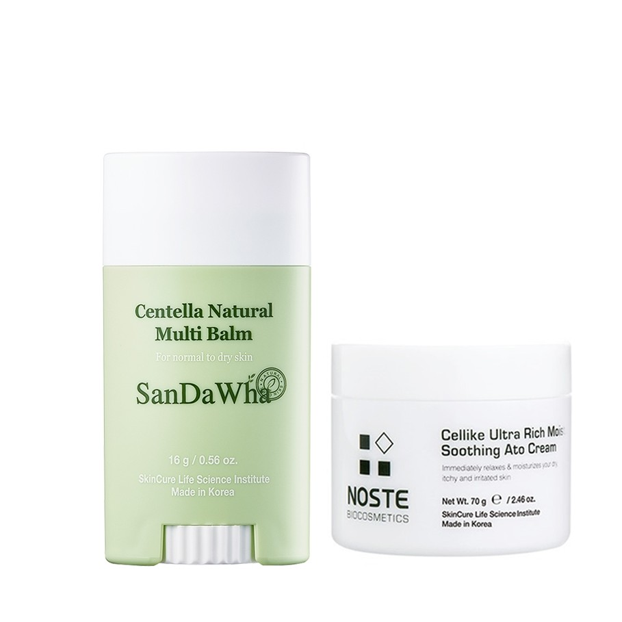 【SKINCURE】Sandawha 萬用舒緩膏+Noste 山茶花保濕乳霜 70g(2入組)