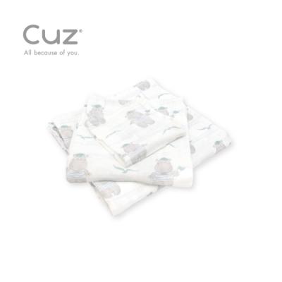 Cuz 有機棉紗布巾河馬水手(紗布巾)30cm(2入)