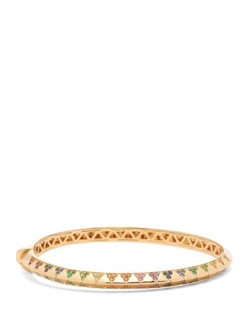 Harwell Godfrey - Knife Edge Sapphire & 18kt Gold Bracelet - Womens - Multi