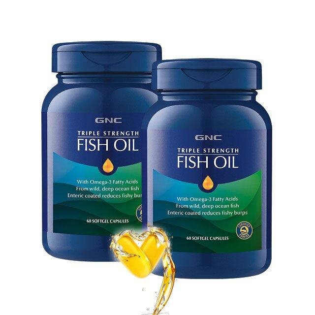 【GNC健安喜】2入組   三效魚油1500膠囊食品 60顆 (3倍Omega3)