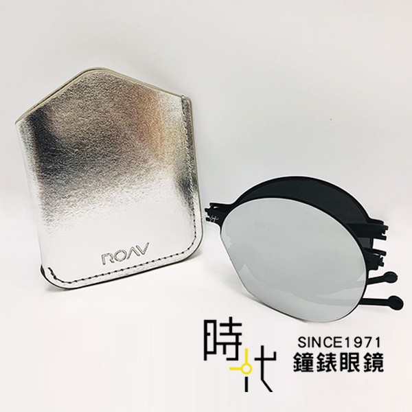 【ROAV】薄鋼太陽眼鏡 NY003 C13.61 白水銀 圓框 折疊墨鏡 美國 OVERSIZE 台南 時代