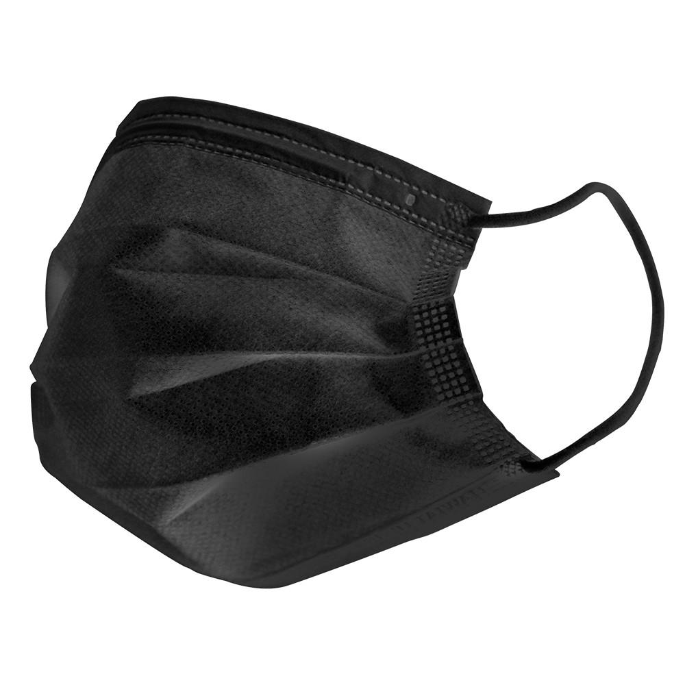 最新MD雙鋼印 時尚黑 一般平面醫用口罩 現貨供應中