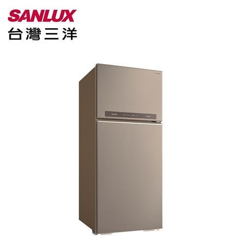 SANLUX台灣三洋 580L雙門鏡面鋼板變頻電冰箱 SR-C580BV1B