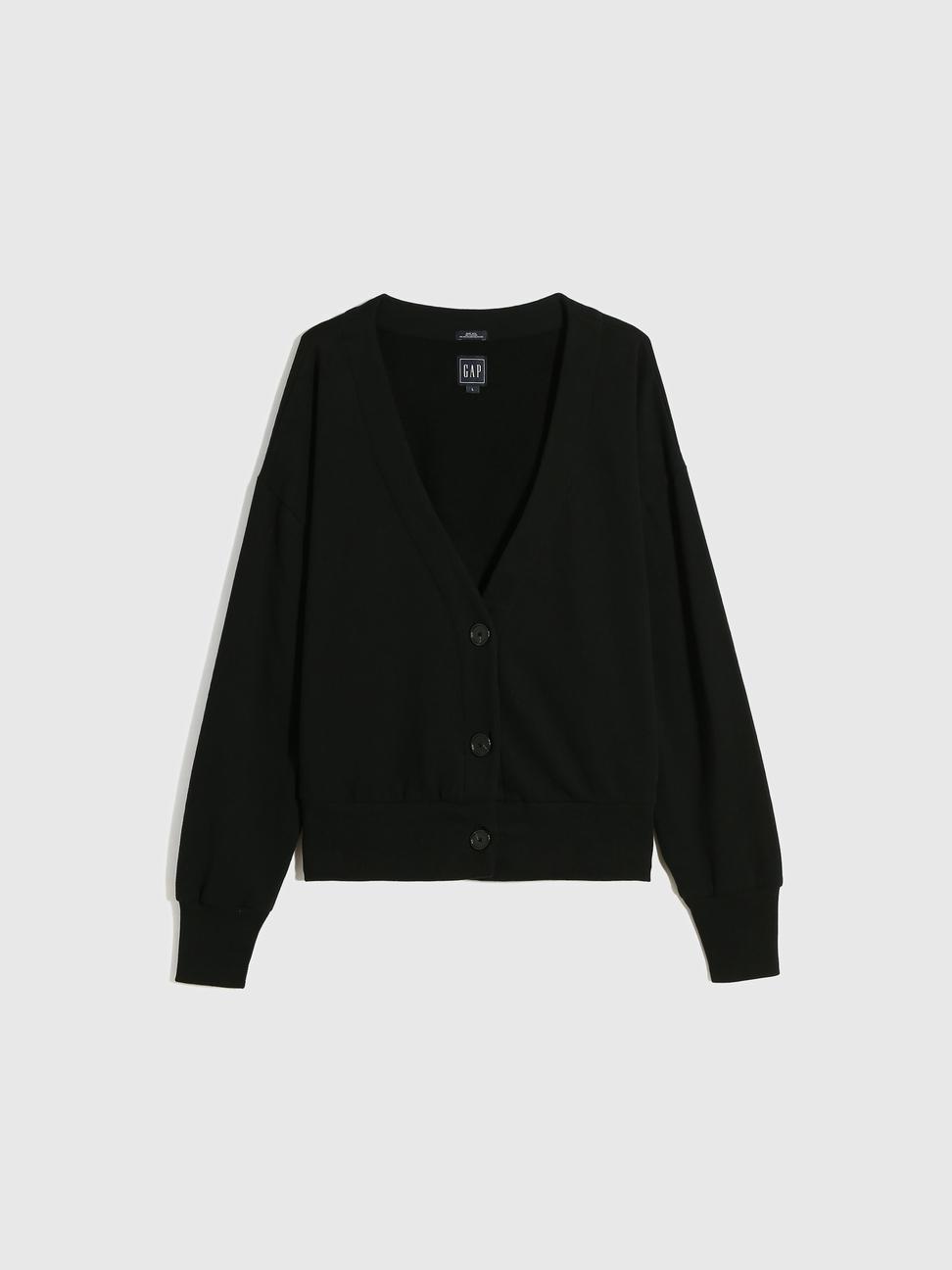 女裝 保暖碳素磨毛V領紐扣外套