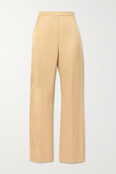Theory - 斜纹布阔腿裤 - 沙色 - US2