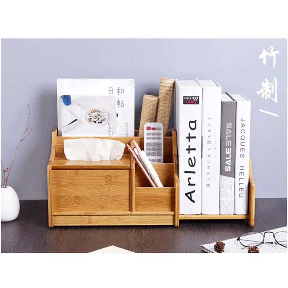 多功能日式可伸縮桌面收納盒