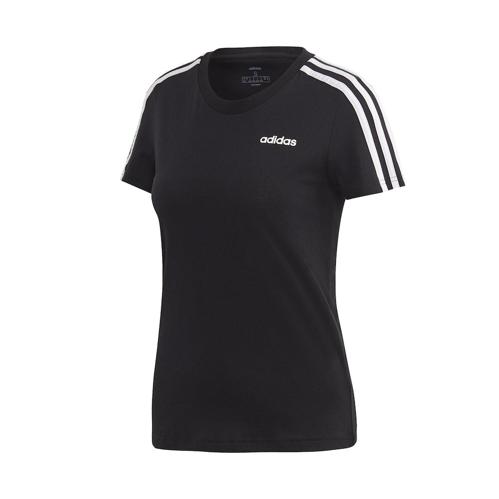 ADIDAS T恤 ESS 3-Stripes Tee 女款 愛迪達 三線 圓領 棉質 基本款 舒適 黑 白 [DP2362]