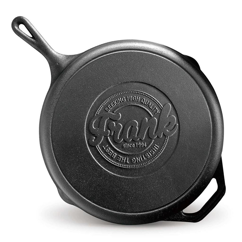 法蘭克肉舖子-12吋美式短柄鑄鐵鍋(32cm)