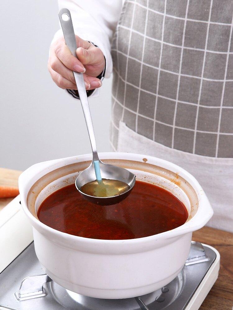 隔油湯勺子304不銹鋼過濾漏勺家用喝湯分離瀝油脂撈火鍋去油神器1入