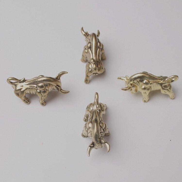 中國風銅飾男黃銅金牛生肖掛件動物鑰匙扣吊墜生日禮品股市牛市1入