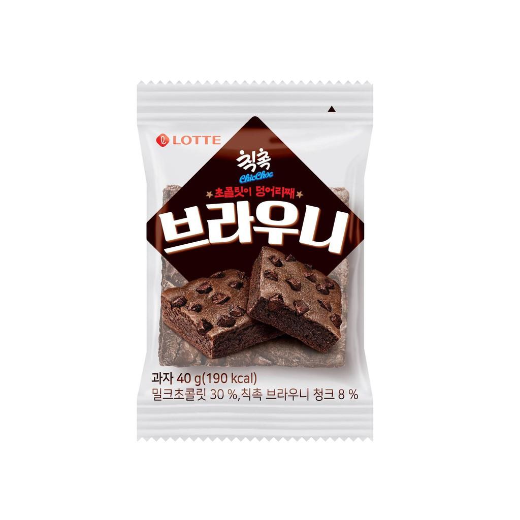 韓國 LOTTE 樂天 布朗尼 蛋糕 40g【美日多多福利社】