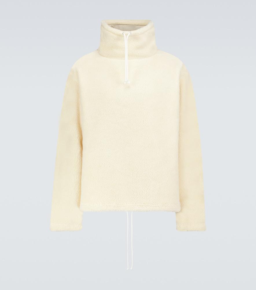 Fleece cotton-blend sweater