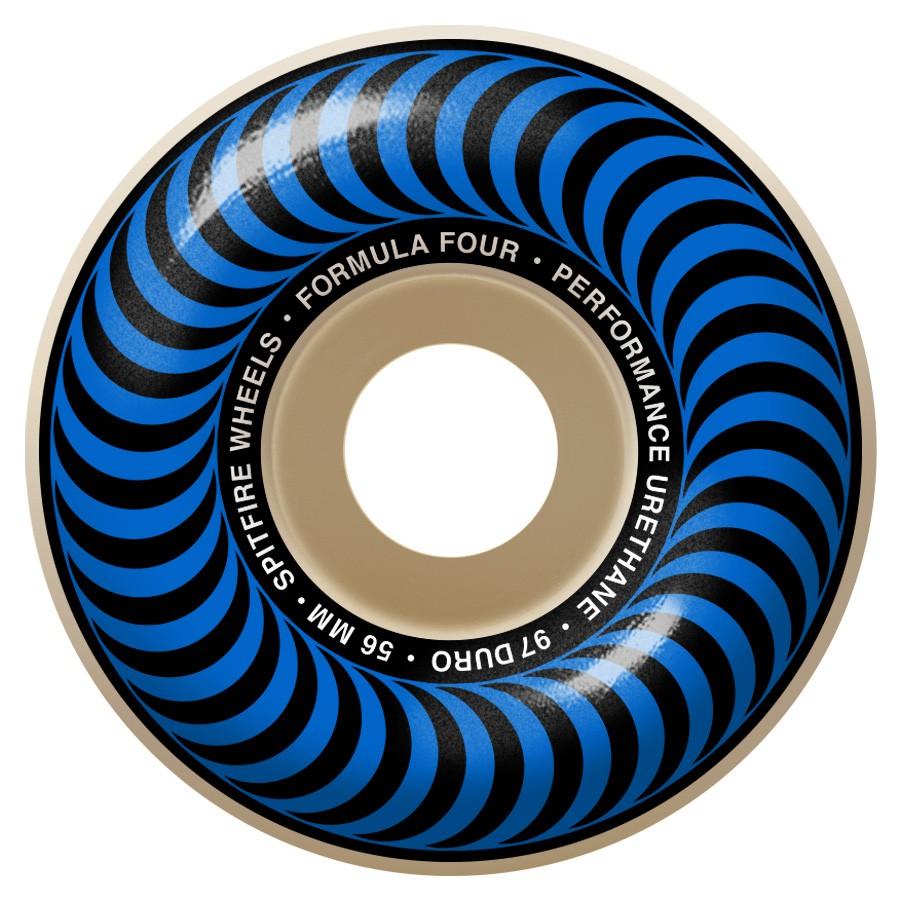 Spitfire F4 Classic Blue 56mm 97a 輪子/滑板《Jimi Skate Shop》