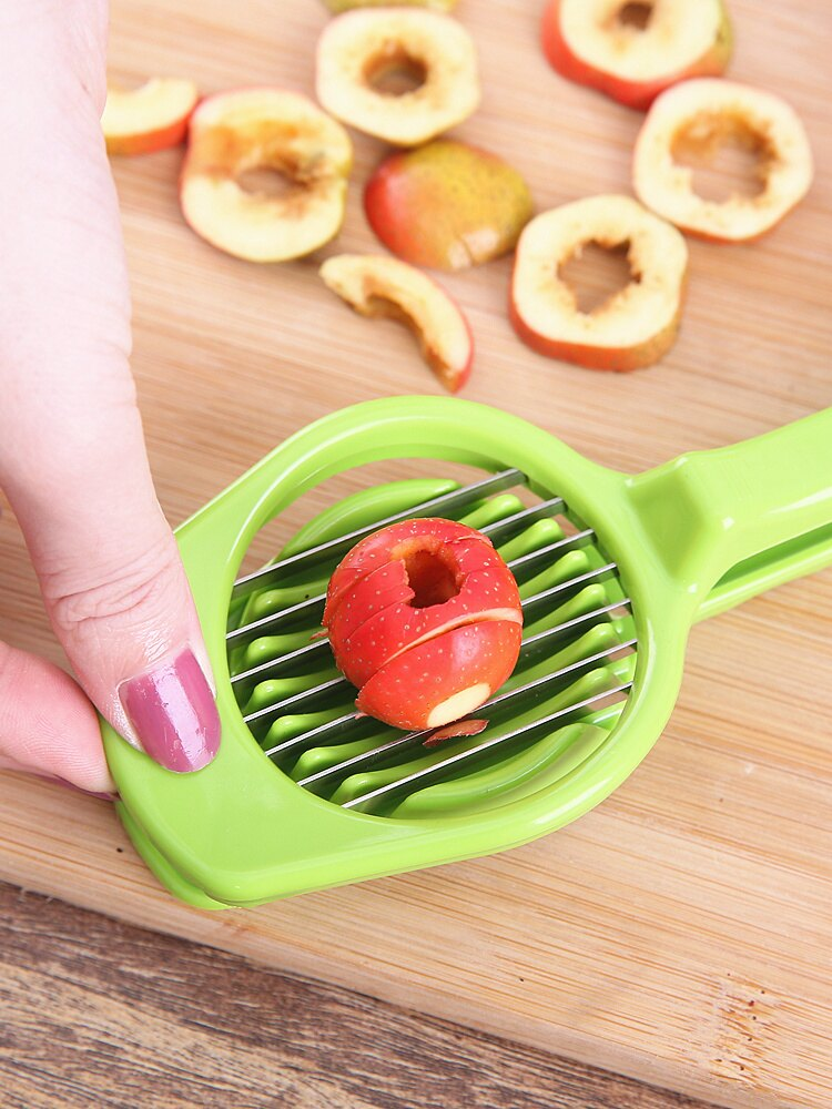 紅棗切片器山楂分割器香菇草莓切蛋器家用水果分割器干棗切片神器1入